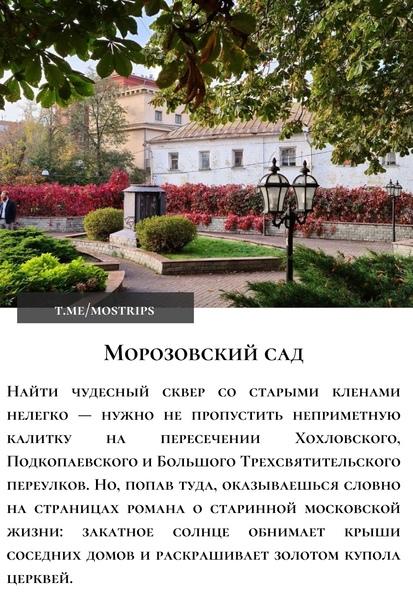 ТОП-6 уютных и малоизвестных парков Москвы:...