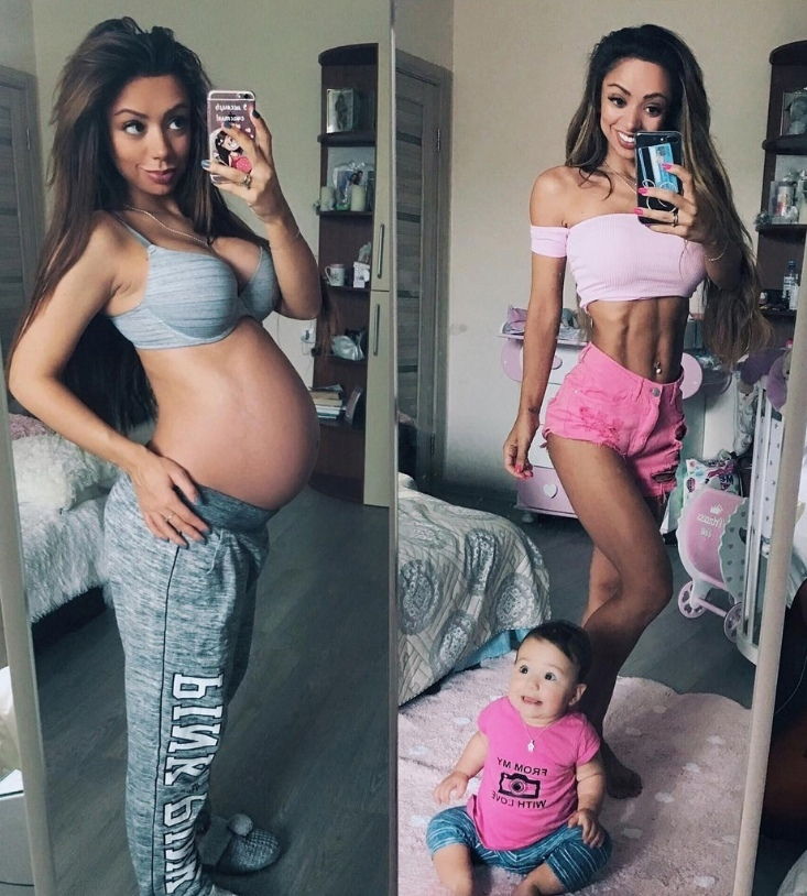 После родов взялась за себя!
